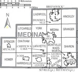 file map of medina county ohio with municipal and township