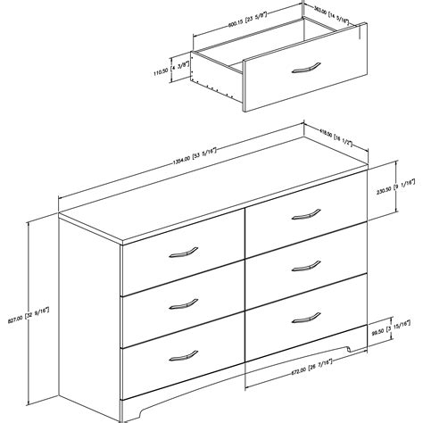 South Shore Step One 6 Drawer Dresser Reviews Wayfair Bedroom Dresser Dimensions