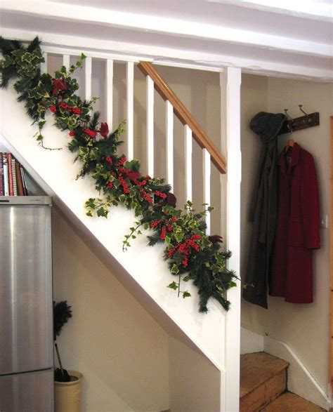 stair railing christmas ideas 30 beautiful decorations that turn your staircase into a tale