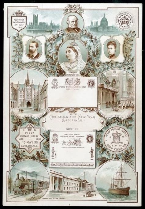 new year card postage great britain postal history 1890 special post office