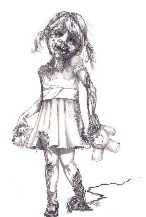 Drawing Zombies by Free Coloring Pages