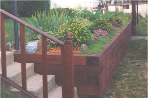 retaining walls timber treated landscape timbers