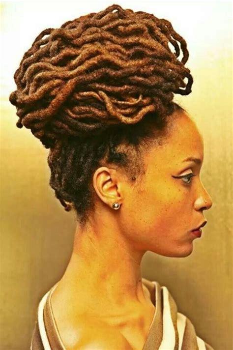 hair styles for locked hair loc bun hairstyles pinterest