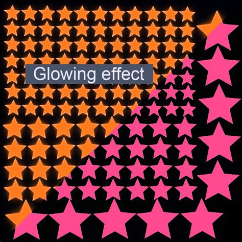 Stiker Glow In The Luminous Stickers glow in the wall fluorescent luminous stickers decal wallpaper room home