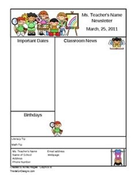 Free Classroom Newsletter Templates For Microsoft Word by Free Two Page Template For A Classroom