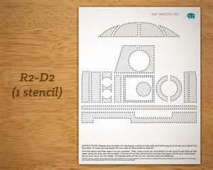 r2d2 printable template printable pumpkin carving pattern wars r2 d2