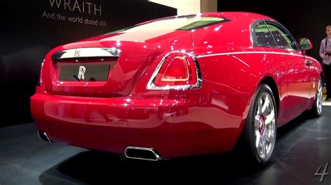 roll royce red red rolls royce wraith 2013 dubai motor show youtube