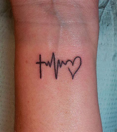 tatoo poignet heartbeat battement de coeur les plus beaux tatouages qui repr 233 sentent les battements
