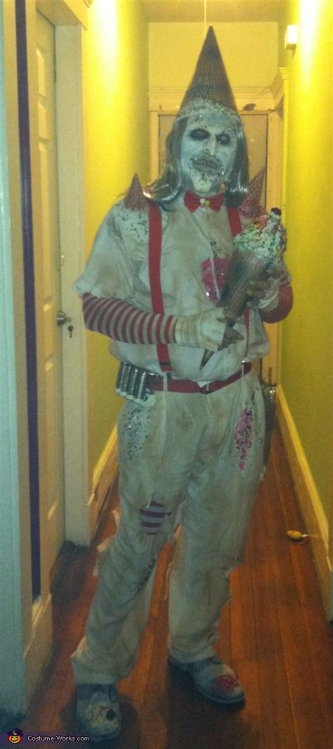 creepy ice cream man halloween costume