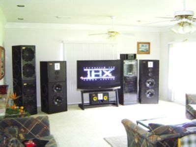 completed home theaterliving room set  diy audio