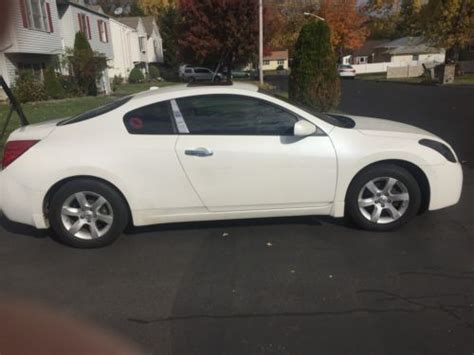 2008 nissan altima s coupe 2 door white for sale on