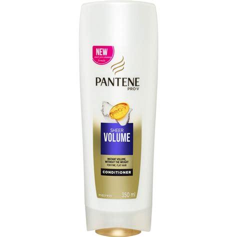 pantene hair conditioner pantene conditioner sheer volume 350ml woolworths