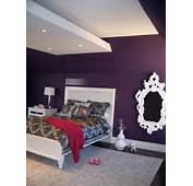 Bedroom Inspiration Trendy Dark Purple Wall Painted With White