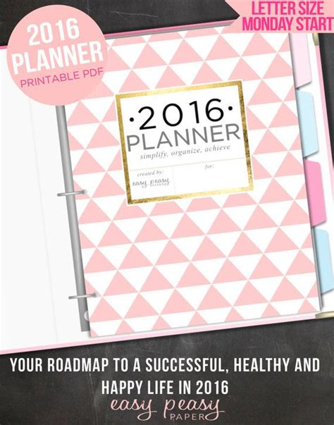 free printable family planner 2016 2016 planner 2016 organizer letter size printable