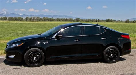 Black On Black Kia Optima Tsw Valencia Matte Black On Kia Optima Wheels