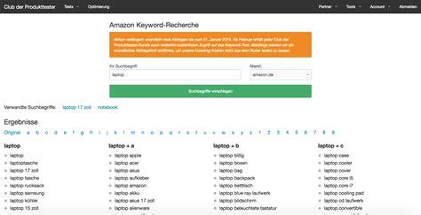 amazon keyword tool amazon keyword tool club der produkttester