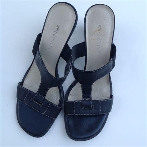 worthington shoes worthington black leather slides sandals worthington