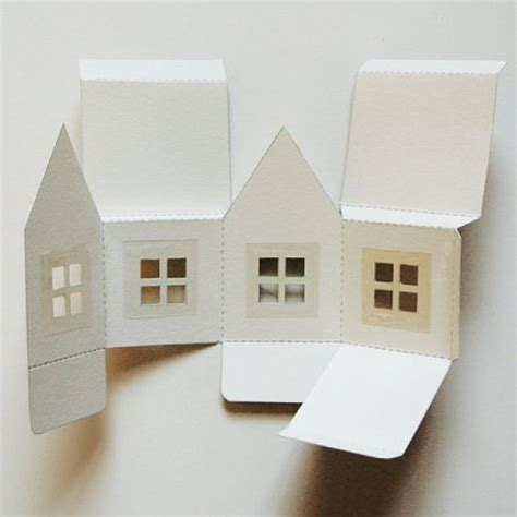 printable paper house luminaries graphics paper houses and inspiration on pinterest