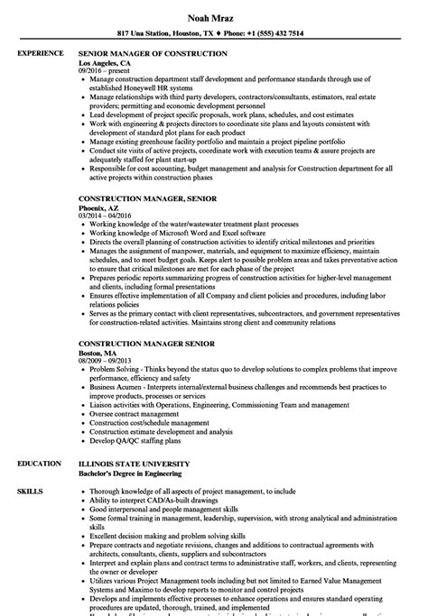 construction worker resume building example sample job