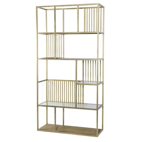 etagere türkis cage regency brass and glass shelf bookcase etagere 42