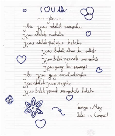 menulis puisi untuk anak sd puisi tentang ibu 171 sdnpangkah04