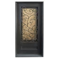 Wrought Iron Glass Doors Grafton Exterior Wrought Iron Glass Doors Fern Collection Black Right Inswing 82 Quot X38 Quot Flat Top