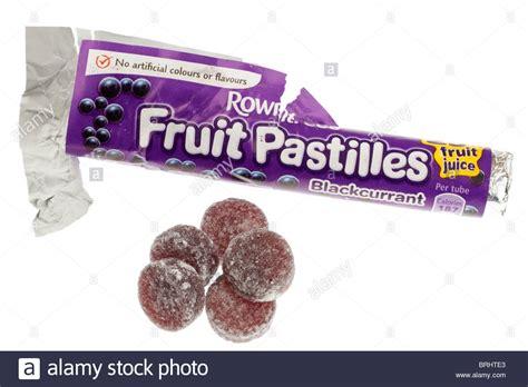 Ribena Blackcurrent Pastilles opened packet of rowntree s blackcurrant fruit pastilles