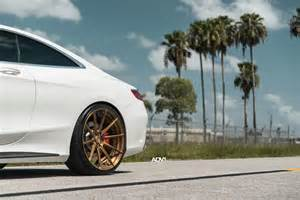 Bronze Wheels On White Truck White Mercedes S Class Coupe Adv15 Mv 2 Sl Brushed