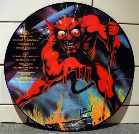 Vinyl Iron Maiden The Number Of The Beast iron maiden the number of the beast picture disc vinyl lp 12 inch