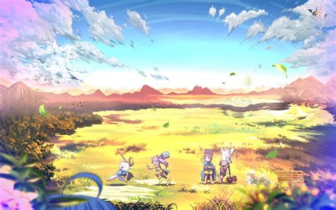 wallpaper anime landscape a picture that makes you feel happy all of a sudden