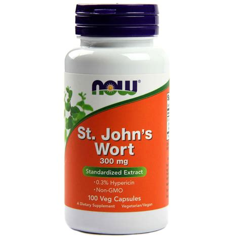 St Johns Wort Detox by Now Foods St S Wort 300 Mg 100 Capsules