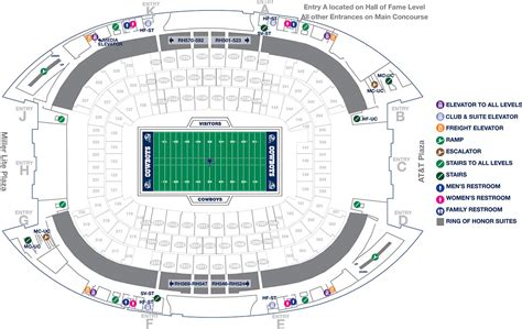 at t stadium map stadium maps attstadium