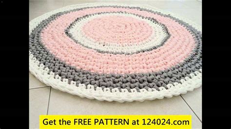 how to crochet a rug out of t shirts crochet rug with yarn 1