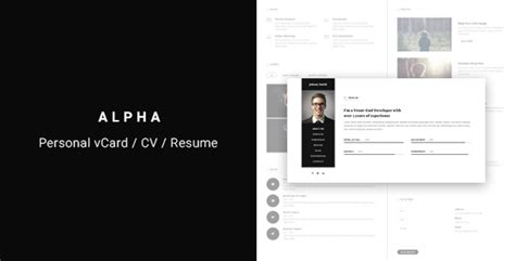 sility vcard cv resume html template free alpha vcard cv resume template market website template