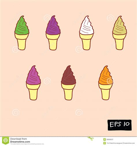 doodle ice cream pattern ice cream doodle royalty free stock photography image