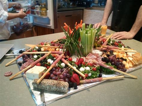 tuscan themed events crudites table at an italian themed party for the home