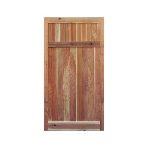 signature development 3 ft x 6 ft western cedar flat