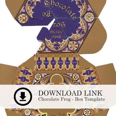 chocolate frog box template printable the arrogant pug chocolate frog peppermint toad