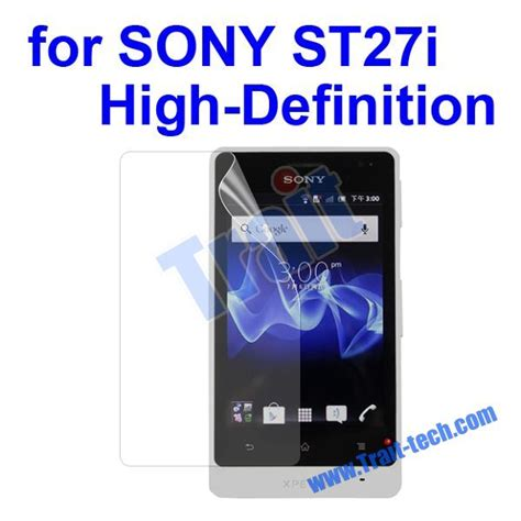 Sony Xperia Go St27i Clear Screen Guard screen protector for st27i sony xperia go high definition