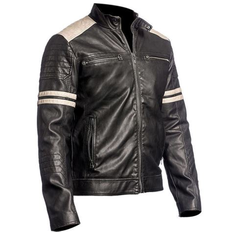 motorcycle style leather jacket black vintage style retro leather jacket leather jackets