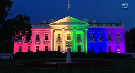 white house lights time lapse white house lights up in rainbow colors to celebrate gay marriage thehill