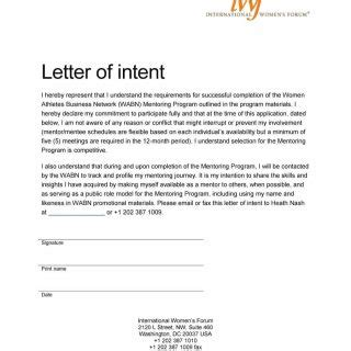 Letter Of Intent For Business Management 40 Letter Of Intent Templates Sles For School Business