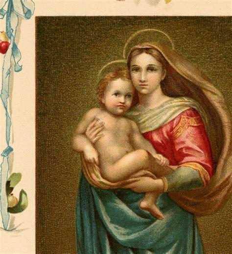 beautiful vintage madonna  child image  graphics