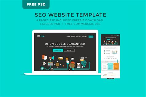 Template Seo by Fein Seo Website Templates Free Galerie