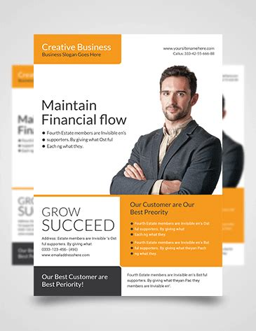 business flyer template km creative