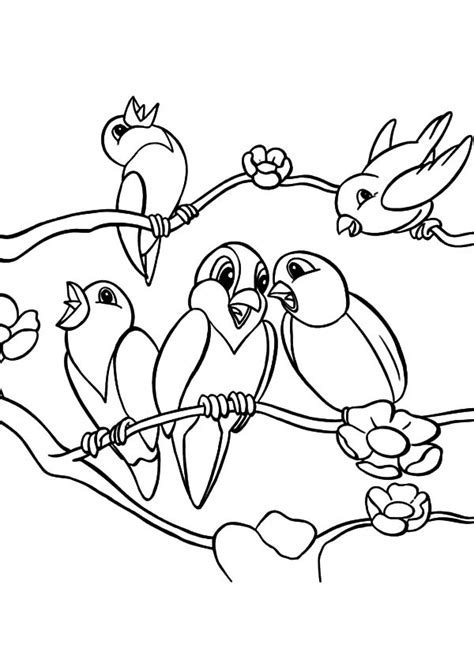 coloring pages of birds singing love birds standing at fence of love coloring pages
