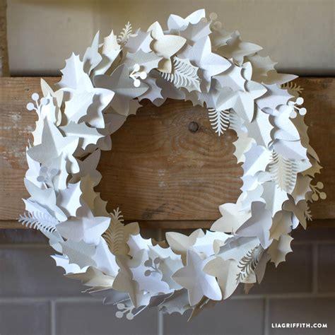 white paper christmas decorstions diy winter wreath paper project seasonal home decor