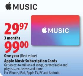Apple Gift Card Canada - apple stores selling apple music gift cards 12 months for