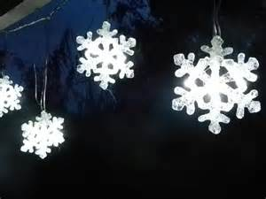 snowflake led curtain string christmas light decoration ebay