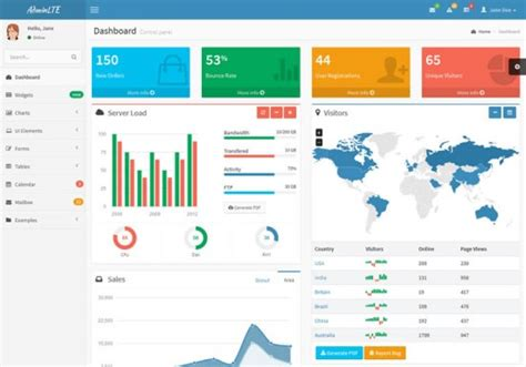 bootstrap 3 templates 20 free bootstrap admin templates